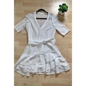 Veronica Beard White Lace Dress